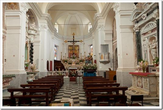 Abbazia di Sant'Andrea - interno Borzone