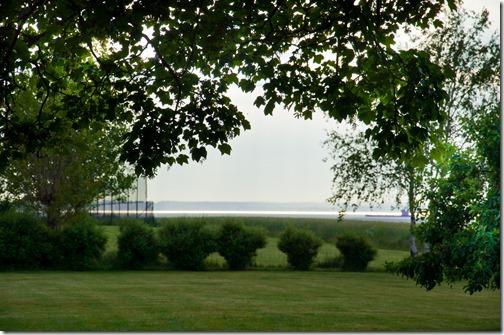 Il mar Baltico e la costa Danese sullo sfondo