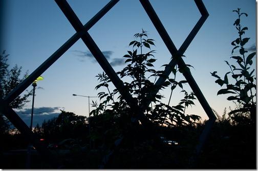 Ore 23 di sera in Scandinavia sole tramonta solo per poche ore_