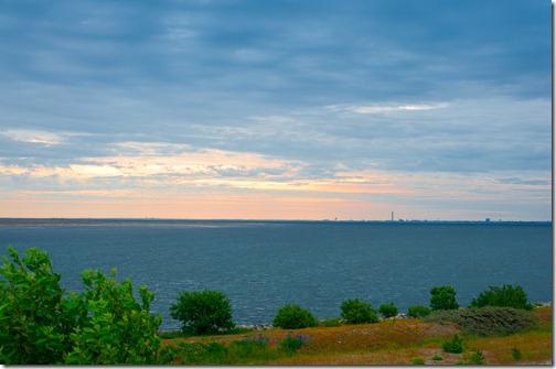 Sorgere del sole in Danimarca sullo Sfondo Malmo e la costa svedese