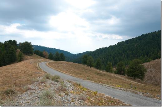 Authion - strada che sale alla cima
